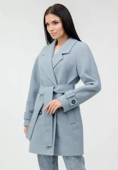 Пальто укороченное с поясом