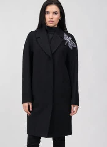 """Пальто с декоративной вышивкой """"Стрекоза"""""""