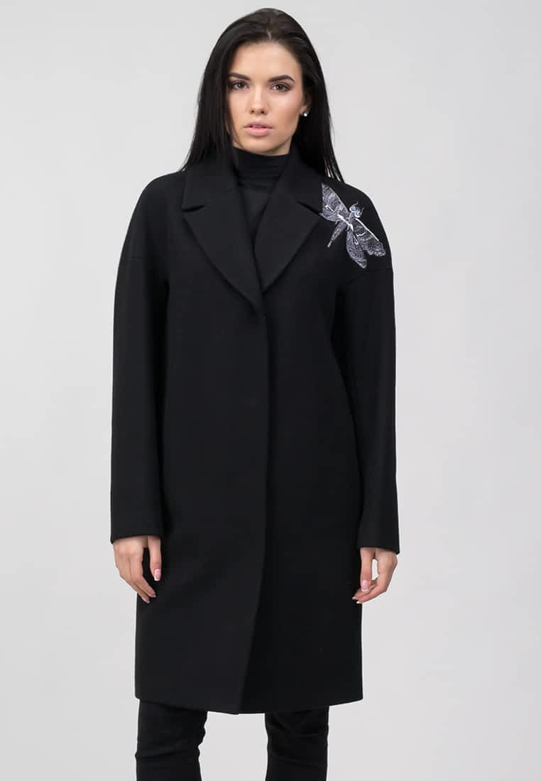 """Пальто з декоративною вишивкою """"Стрекоза"""""""