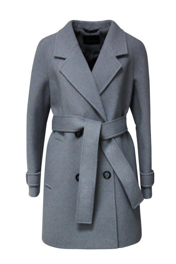Пальто укорочене з поясом
