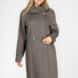 Однотонное двубортное пальто