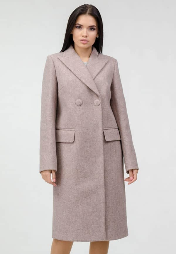 Пальто прямого фасона на кнопках