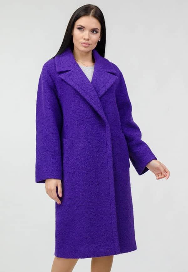 Пальто из ворсистой ткани