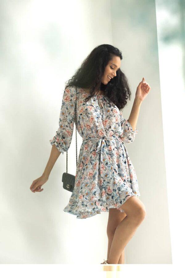 Цветочное платье из шифона