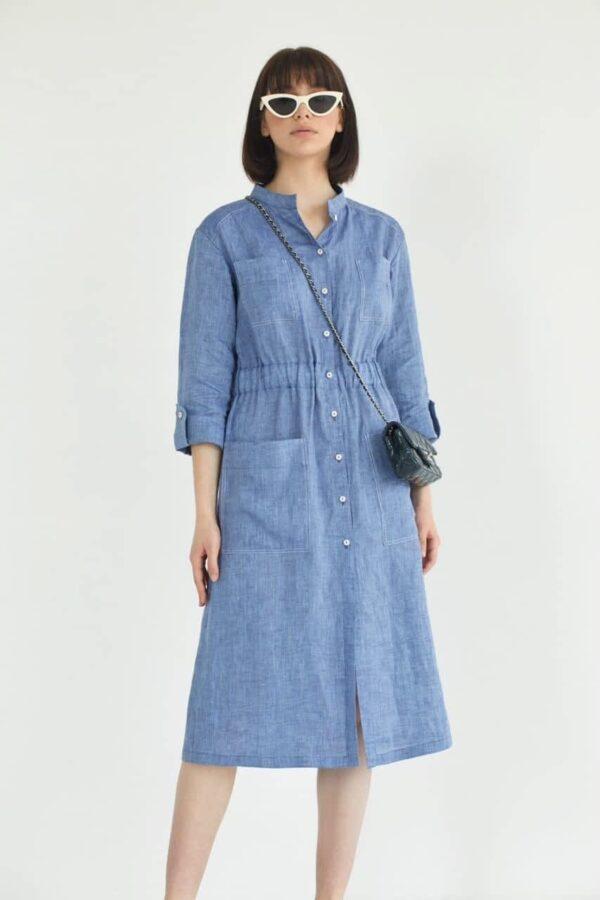 Легкое платье из льна