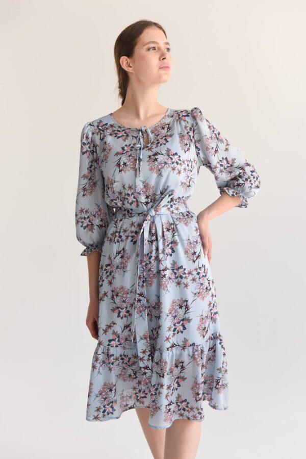 Платье длины миди с поясом