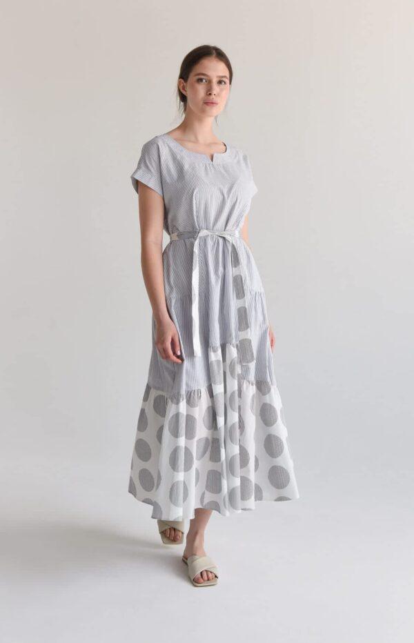 Хлопковое платье длины макси