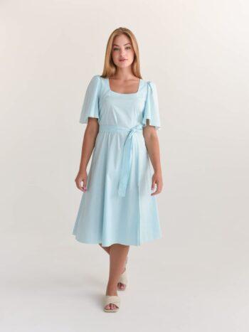 Хлопковое платье в мелкий горох