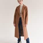 Пальто прямого фасона с пуговицами