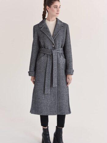 Длинное пальто из ангоры