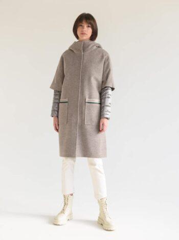 Пальто трансформер с капюшоном