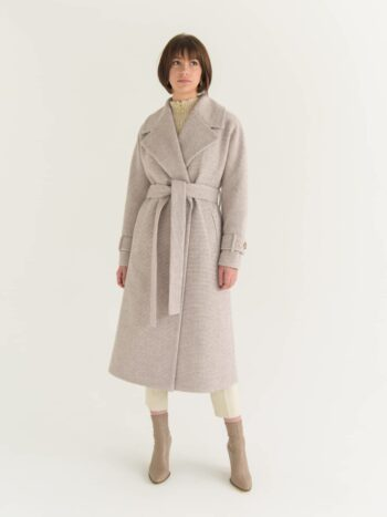 Пальто халат довжини максі