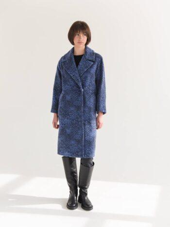 Пальто с принтом лео