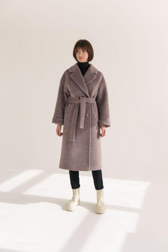 Двобортне пальто-шуба з еко хутра